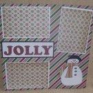 """Jolly Snowman""-Premade Scrapbook Page 12x12"