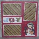 """Joy Penguin""-Premade Scrapbook Page 12x12"