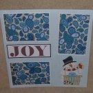 """Joy Snowman""-Premade Scrapbook Page 12x12"