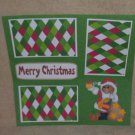 """Merry Christmas Bear w/Present""-Premade Scrapbook Page 12x12"