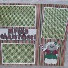 """Merry Christmas Lamb ar""-Premade Scrapbook Page 12x12"