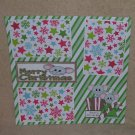 """""""Merry Christmas Mice 1""""-Premade Scrapbook Page 12x12"""