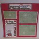 """Merry Christmas Mice c""-Premade Scrapbook Page 12x12"