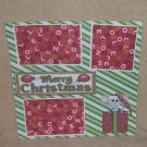 """""""Merry Christmas Mice""""-Premade Scrapbook Page 12x12"""