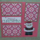 """Merry Christmas Santa 2tb""-Premade Scrapbook Page 12x12"