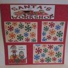 """Santa's Workshop bl c""-Premade Scrapbook Page 12x12"