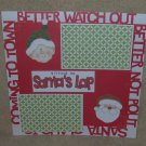 """Sitting on 1 Santa's Lap 1a3""-Premade Scrapbook Page 12x12"