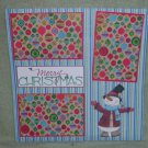 """Merry Christmas Snowman""-Premade Scrapbook Page 12x12"