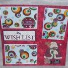 """My Wish List cs""-Premade Scrapbook Page 12x12"
