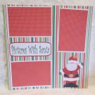 """Pictures with Santa 2""-Premade Scrapbook Page 12x12"