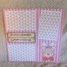 """""""Reindeer Crossing 3 Bowtie""""-Premade Scrapbook Page 12x12"""