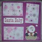 """""""Santa Baby""""-Premade Scrapbook Page 12x12"""