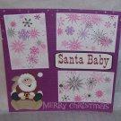 """""""Santa Baby a""""-Premade Scrapbook Page 12x12"""