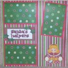 """Santa\s Helper Sis""-Premade Scrapbook Page 12x12"