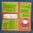 """Santa I Want It All 2""-Premade Scrapbook Page 12x12"