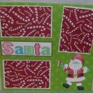 """Santa km""-Premade Scrapbook Page 12x12"