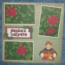 """Santa's Helper Son a""-Premade Scrapbook Page 12x12"