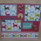 """Deck The Halls Reindeer""-Premade Scrapbook Page 12x12"