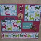 """""""Deck The Halls Reindeer""""-Premade Scrapbook Page 12x12"""
