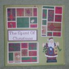 """""""The Spirit of Christmas""""-Premade Scrapbook Page 12x12"""