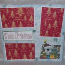 """White Christmas""-Premade Scrapbook Page 12x12"