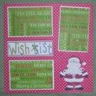 """Wish List Santa nw""-Premade Scrapbook Page 12x12"
