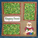 """Wrapping Presents""-Premade Scrapbook Page 12x12"