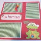 """Bah Humbug""-Premade Scrapbook Page 12x12"