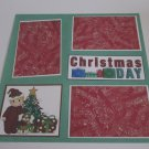 """Christmas Day Boy bl""-Premade Scrapbook Page 12x12"