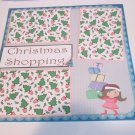 """""""Christmas Shopping""""-Premade Scrapbook Page 12x12"""