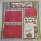 """Merry Christmas Mice bl 21""-Premade Scrapbook Page 12x12"