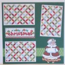 """A Holly Jolly Christmas Mrs Claus a""-Premade Scrapbook Page 12x12"