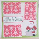 """All I Want For Christmas 2b""-Premade Scrapbook Page 12x12"