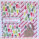 """I Can Bearly Wait For Santa a""-Premade Scrapbook Page 12x12"