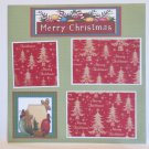"""Merry Christmas Gingerbread Men bl""-Premade Scrapbook Page 12x12"