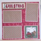 """Merry Christmas Snowman bl""-Premade Scrapbook Page 12x12"