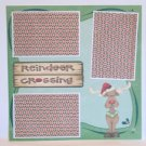 """Reindeer Crossing psp a""-Premade Scrapbook Page 12x12"