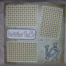 """Horseshoe Shuffle""-Premade Scrapbook Page 12x12"