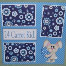 """24 Carrot Kid Boy kw""-Premade Scrapbook Page 12x12"