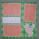 """""""24 Carrot Kid Girl kw""""-Premade Scrapbook Page 12x12"""