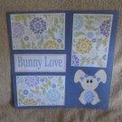 """Bunny Love""-Premade Scrapbook Page 12x12"