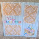 """""""Easter Basket a""""-Premade Scrapbook Page 12x12"""