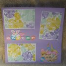 """Easter Basket b""-Premade Scrapbook Page 12x12"