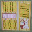 """Easter Egg Hunt 1""-Premade Scrapbook Page 12x12"