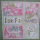 """Easter Fun nw""-Premade Scrapbook Page 12x12"