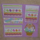"""Happy Easter Bunny Basket""-Premade Scrapbook Page 12x12"