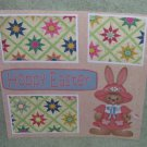 """Hoppy Easter Bunny Girl""-Premade Scrapbook Page 12x12"