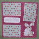 """Looking Good For Easter""-Premade Scrapbook Page 12x12"