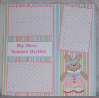 """""""My New Easter Outfit""""-Premade Scrapbook Page 12x12"""