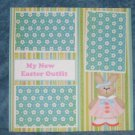 """My New Easter Outfit a""-Premade Scrapbook Page 12x12"